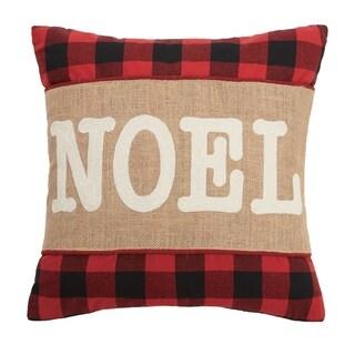 Noel Burlap Applique Pillow By Mistletoe and Co.