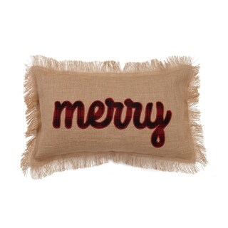 Merry Embroidered Pillow By Mistletoe and Co.