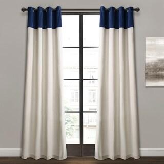 Lush Decor Milo Linen Window Curtain Panel Pair