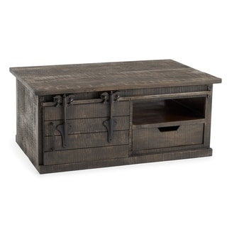 Wyatt Barn Door Coffee Table in Charcoal Grey by RST Brands
