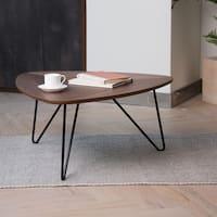 Glitzhome Modern Walnut Veneer Coffee Table