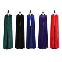 Novelty Design Adult Elf Witch Long Halloween Cloaks Hood Halloween Costumes