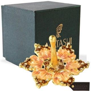 Hand-Painted Spinning Dreidel Holiday Ornaments Elegant Crystals by Matashi