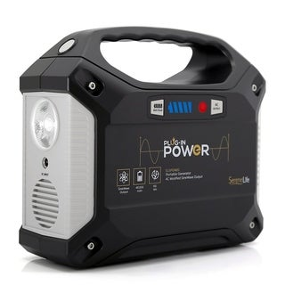 SereneLife SLSPGN20 Portable Power Generator Rechargeable Battery Pack Power Supply, Solar Panel Compatible 42,000mAh Capacity
