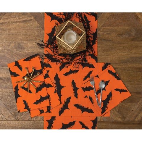 Halloween Spider Web or Batty Cotton Table Runner - N/A