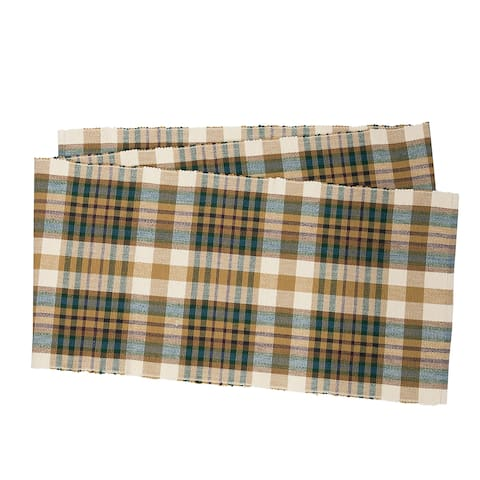 Spruce Plaid Rustic Table Runner