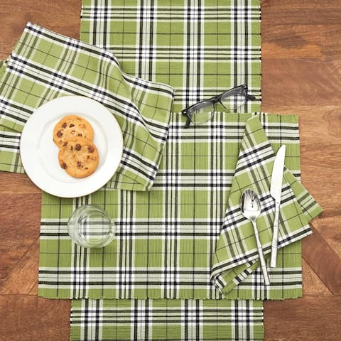 Linden Plaid Rustic Table Runner