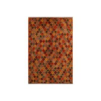 "Balouchi Arya Aleta Orange/Blue Wool Rug (4'9 x 6'6) - 4'9"" x 6'6"""