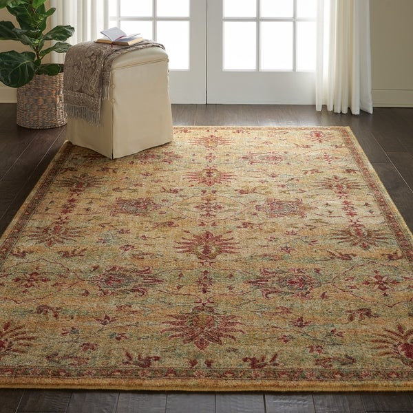 Shop Nourison Vintage Tradition Cream Red Area Rug 5 3 X 7 5