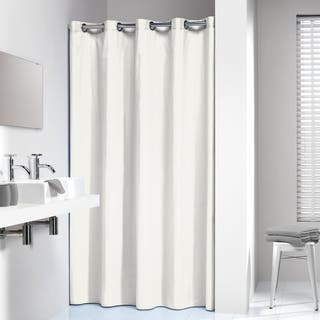 Sealskin Extra Long Hookless Shower Curtain 78 X 72 Inch Coloris Off White Cotton