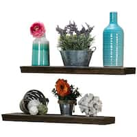 "Del Hutson Designs Ornate True Floating Shelves, 24"" Set of 2"