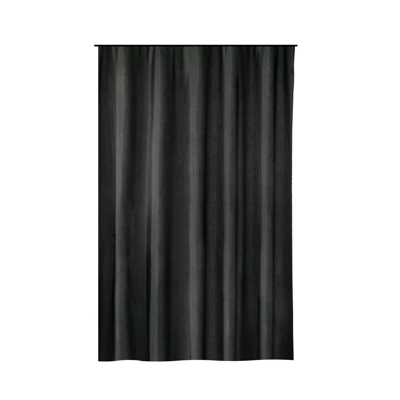 Gamma Extra Long Shower Curtain 78 X 72 Inch Black Fabric