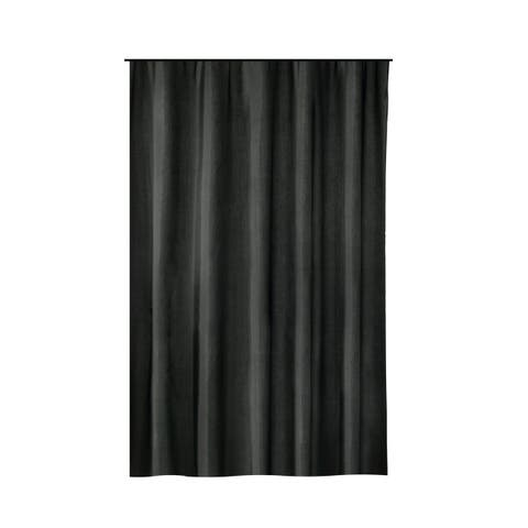 Gamma Extra Long Shower Curtain 78 x 72 Inch Black Fabric