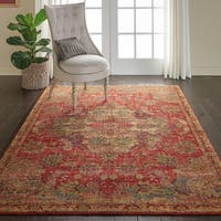 Nourison Vintage Tradition Red Area Rug - 4' x 6'