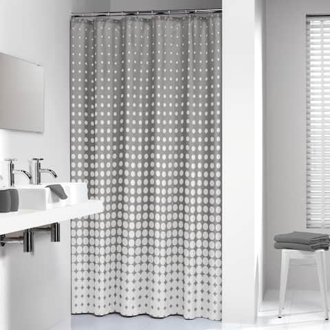 Sealskin Extra Long Shower Curtain 78 x 72 Inch Speckles Gray Fabric