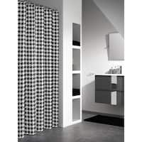 Sealskin Extra Long Shower Curtain 78 x 72 Inch Houndstooth Black And White