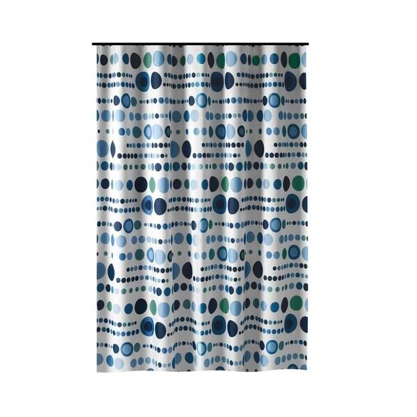 Loodveter 50 Gram.Shop Gamma Extra Long Shower Curtain 78 X 72 Inch Polka Dot Blue