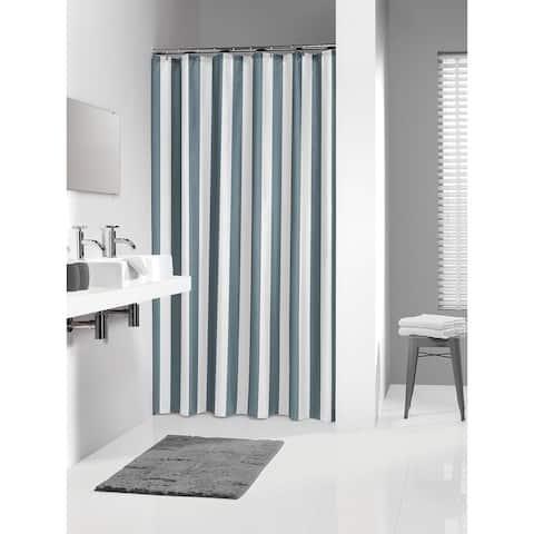 Sealskin Extra Long Shower Curtain 78 x 72 Inch Linje Gray