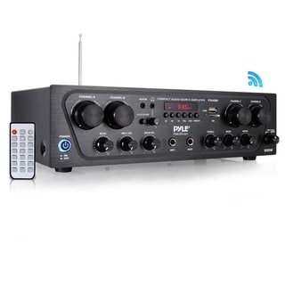 Pyle PTA42BT Bluetooth Audio Amplifier, 4-Ch. Audio Stereo Receiver