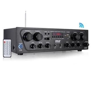 Pyle PTA42BT Bluetooth Audio Amplifier, 4-Ch. Audio Stereo Receiver