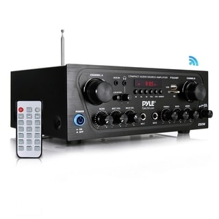 Pyle PTA24BT Compact Bluetooth Audio Stereo Receiver w/ FM Radio