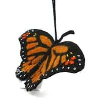 Handmade Felt Monarch Butterfly Ornament (Kyrgyzstan)