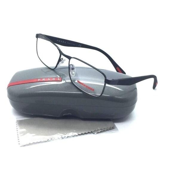 14e1c2662ce Prada Sport Black Eyeglasses VPR 51G 7AX 1O1 54 mm Glossy Metal Bk Matte BK