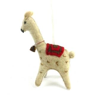 Handmade Felt Llama Ornament (Kyrgyzstan)