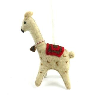 handmade felt llama ornament kyrgyzstan