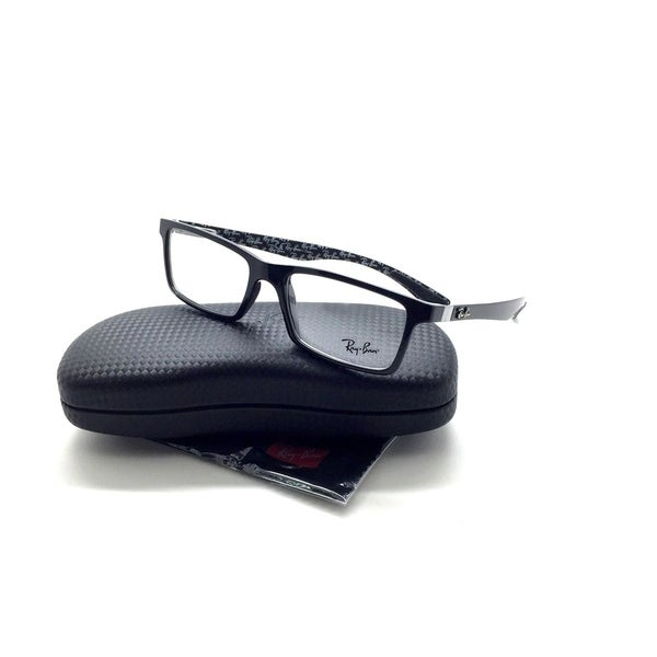 b8d9d43058 Shop Ray-Ban RB 8901 5610 53mm Top Black On Shiny Grey Eyeglasses - Free  Shipping Today - Overstock.com - 23169957