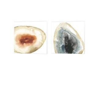 June Erica Vess 'Cropped Geodes' Canvas Art (Set of 2)