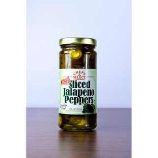Club Pack of 12 Chef's Select Hot Sliced Jalapeno Peppers 8 oz. #30945