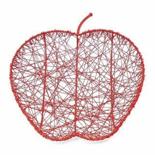 Handcrafted Red Wire Apple Fruit Bowl (India)