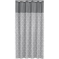 Sealskin Extra Long Shower Curtain 78 x 72 Inch Angoli Gray And White Fabric