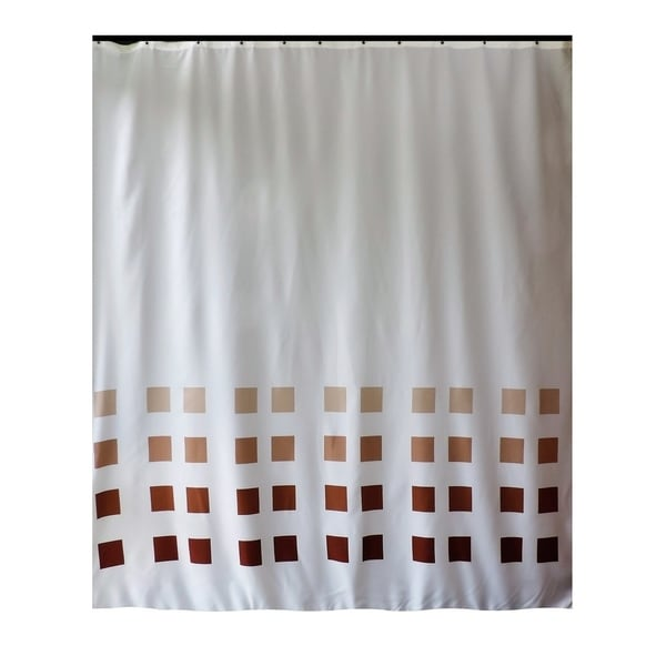 Shop Gamma Extra Long Shower Curtain 78 X 72 Inch White