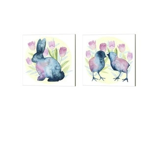 Grace Popp 'Tulip Easter' Canvas Art (Set of 2)