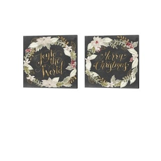 Grace Popp 'Gilded Christmas' Canvas Art (Set of 2)