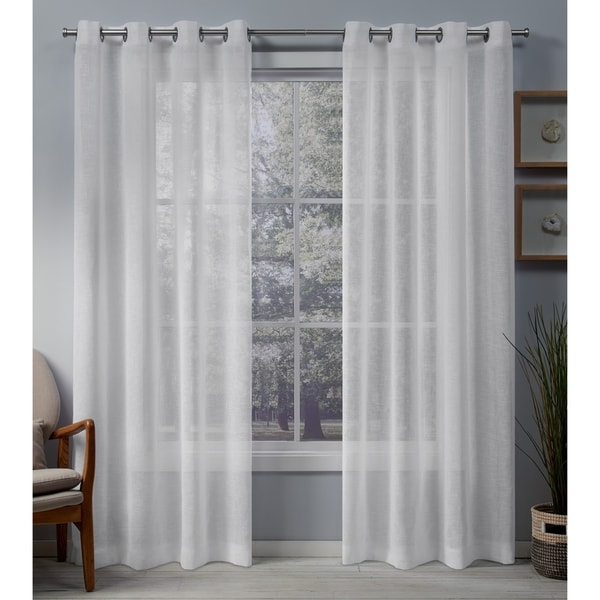 Shop Porch & Den Anfield Sheer Grommet Top Curtain Panel Pair - On Sale - Free Shipping On ...