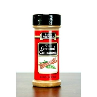 Pack of 12 Spice Supreme Pure Ground Cinnamon Seasoning 4.25 oz. # 30465