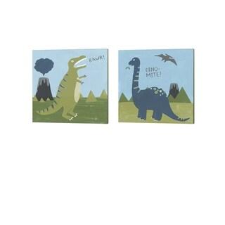 June Erica Vess 'Dino-mite' Canvas Art (Set of 2)