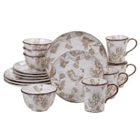 Certified International Toile Rooster 16-piece Dinnerware Set