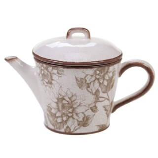 Certified International Toile Rooster 32-ounce Teapot