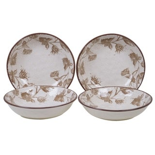 Certified International Toile Rooster 8.5-inch Soup/Pasta Bowls (Set of 4)