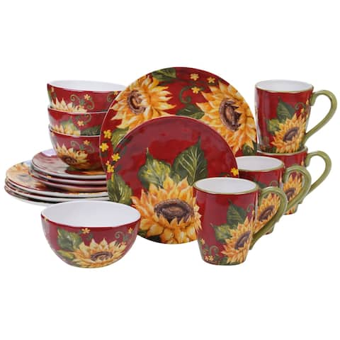 Certified International Sunset Sunflower 16-piece Dinnerware Set