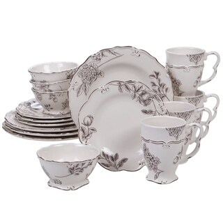 Certified International Vintage Cream with Floral 16-piece Dinnerware Set, Service for 4