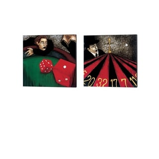 KC Haxton 'Craps & Spinning out of Control' Canvas Art (Set of 2)