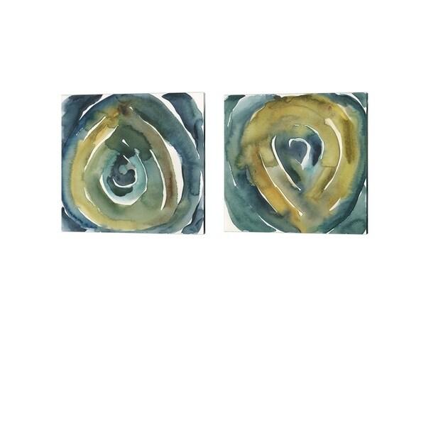 Chariklia Zarris 'Peacock Reflection' Canvas Art (Set of 2)