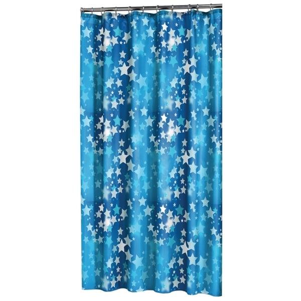Shop Sealskin Extra Long Shower Curtain 78 X 72 Inch Starry Sky Blue PEVA