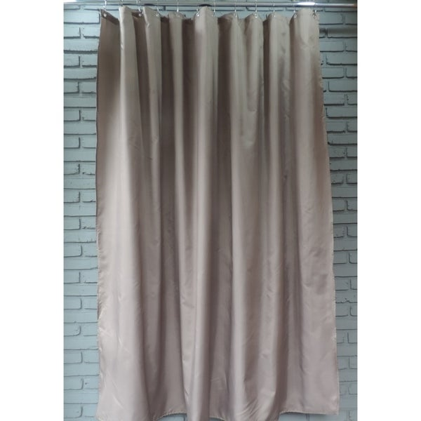 Gamma Extra Long Shower Curtain 78 X 72 Inch Walnut Brown Fabric On Free Shipping Orders Over 45 23174612