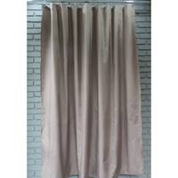 Gamma Extra Long Shower Curtain 78 x 72 Inch Walnut Brown Fabric